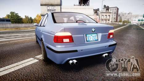 BMW M5 E39 stock for GTA 4 back left view