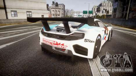 McLaren MP4-12C GT3 Haruhi Itasha for GTA 4 back left view