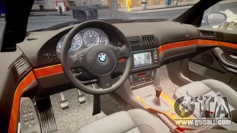BMW M5 E39 stock for GTA 4 inner view