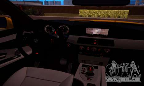 BMW M5 Gold for GTA San Andreas inner view