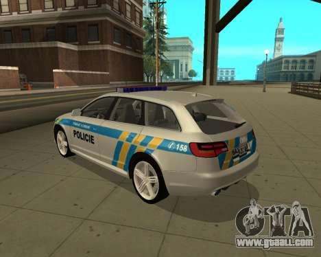 Audi RS6 Combi Police Czech Republic for GTA San Andreas left view