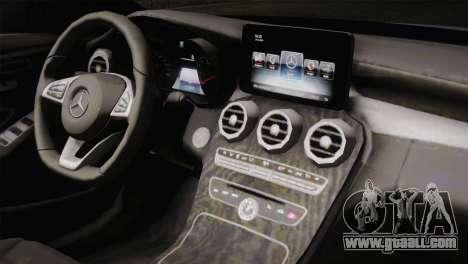 Mercedes-Benz C250 AMG Edition 2014 SA Plate for GTA San Andreas back view