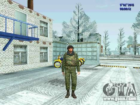 Fighter of the MIA in the winter uniforms for GTA San Andreas