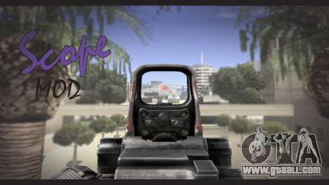 Sniper scope mod for GTA San Andreas