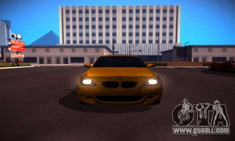 BMW M5 Gold for GTA San Andreas left view