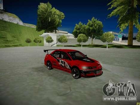 Mitsubishi Lancer Tokyo Drift for GTA San Andreas wheels