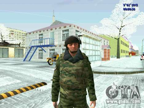 Fighter of the MIA in the winter uniforms for GTA San Andreas third screenshot