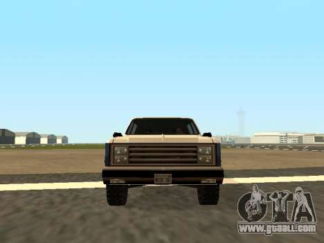 Rancher Four Door for GTA San Andreas back left view
