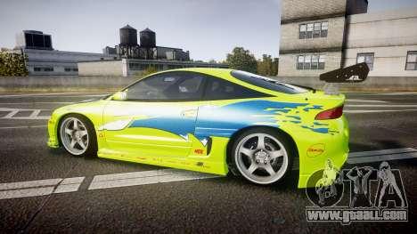 Mitsubishi Eclipse GSX 1995 Furious v3.0 for GTA 4 left view