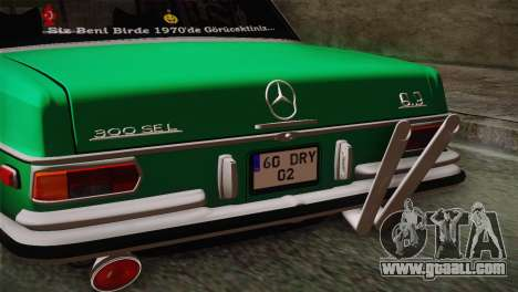 Mercedes-Benz 300 SEL DRY Garage for GTA San Andreas right view