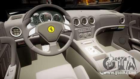 Ferrari 575M Maranello 2002 for GTA 4 back view