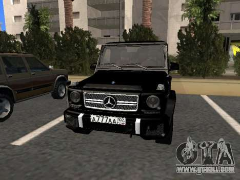 Mercedes-Benz G63 AMG for GTA San Andreas left view