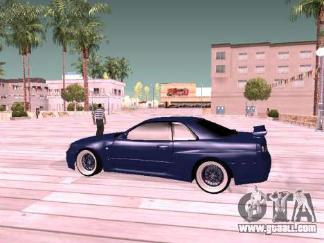 Nissan Skyline for GTA San Andreas back left view