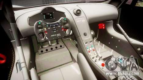 McLaren MP4-12C GT3 Haruhi Itasha for GTA 4 back view