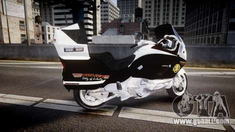 BMW K1200LT Police [ELS] for GTA 4 left view