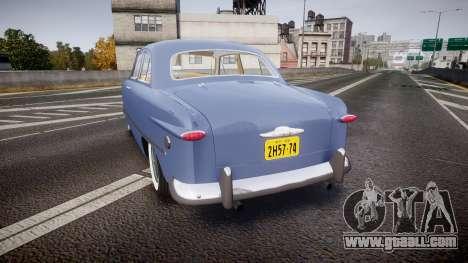 Ford Custom Tudor 1949 v2.1 for GTA 4 back left view