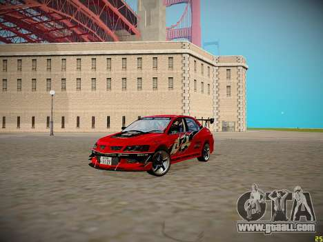 Mitsubishi Lancer Tokyo Drift for GTA San Andreas inner view