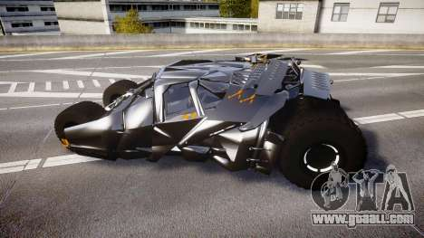 Batman tumbler [EPM] for GTA 4 left view