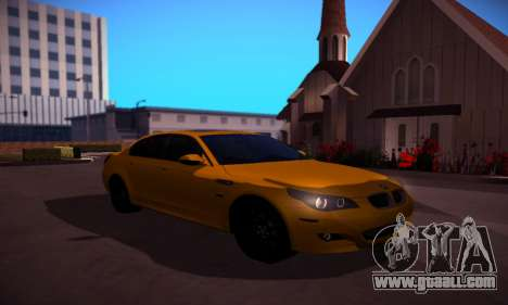 BMW M5 Gold for GTA San Andreas back view