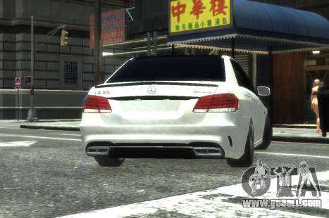 Mercedes-Benz E63 W212 AMG for GTA 4 back view