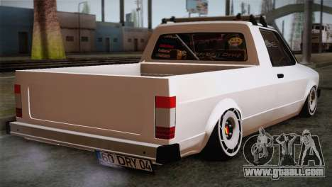 Volkswagen Caddy DRY Garage for GTA San Andreas left view