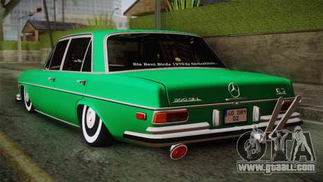 Mercedes-Benz 300 SEL DRY Garage for GTA San Andreas left view