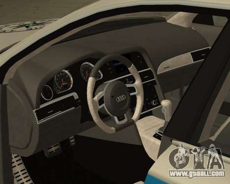 Audi RS6 Combi Police Czech Republic for GTA San Andreas right view