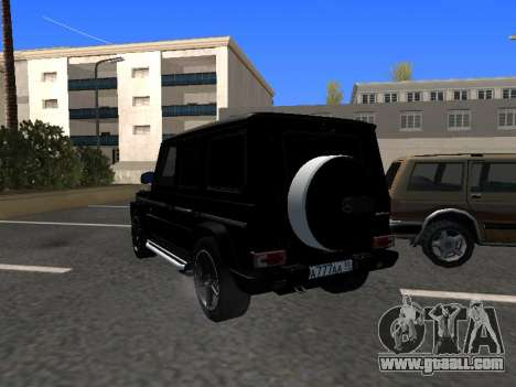 Mercedes-Benz G63 AMG for GTA San Andreas back left view