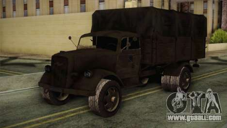 Opel Blitz (CoD: World at War) for GTA San Andreas