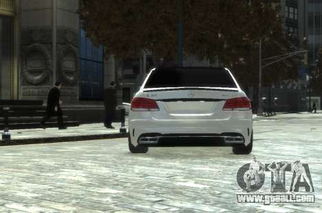 Mercedes-Benz E63 W212 AMG for GTA 4 back left view