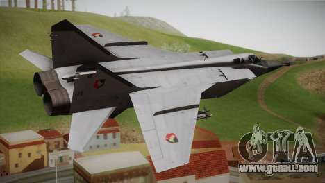 MIG 31 Estovakian Air Force for GTA San Andreas