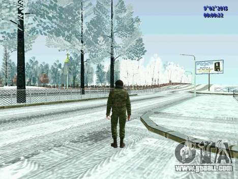 Fighter of the MIA in the winter uniforms for GTA San Andreas second screenshot