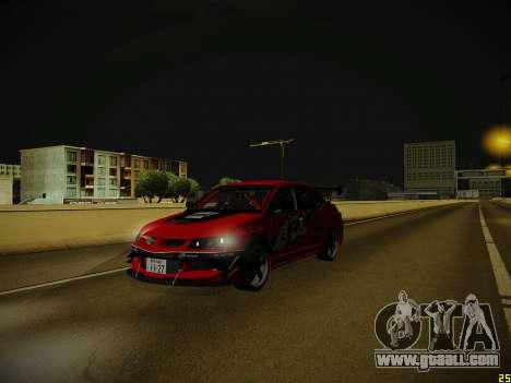 Mitsubishi Lancer Tokyo Drift for GTA San Andreas upper view