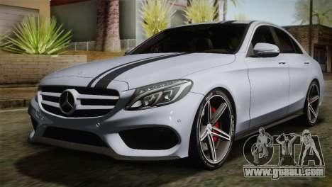 Mercedes-Benz C250 AMG Edition 2014 SA Plate for GTA San Andreas