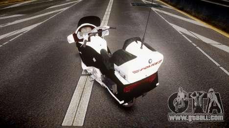 BMW K1200LT Police [ELS] for GTA 4 back left view