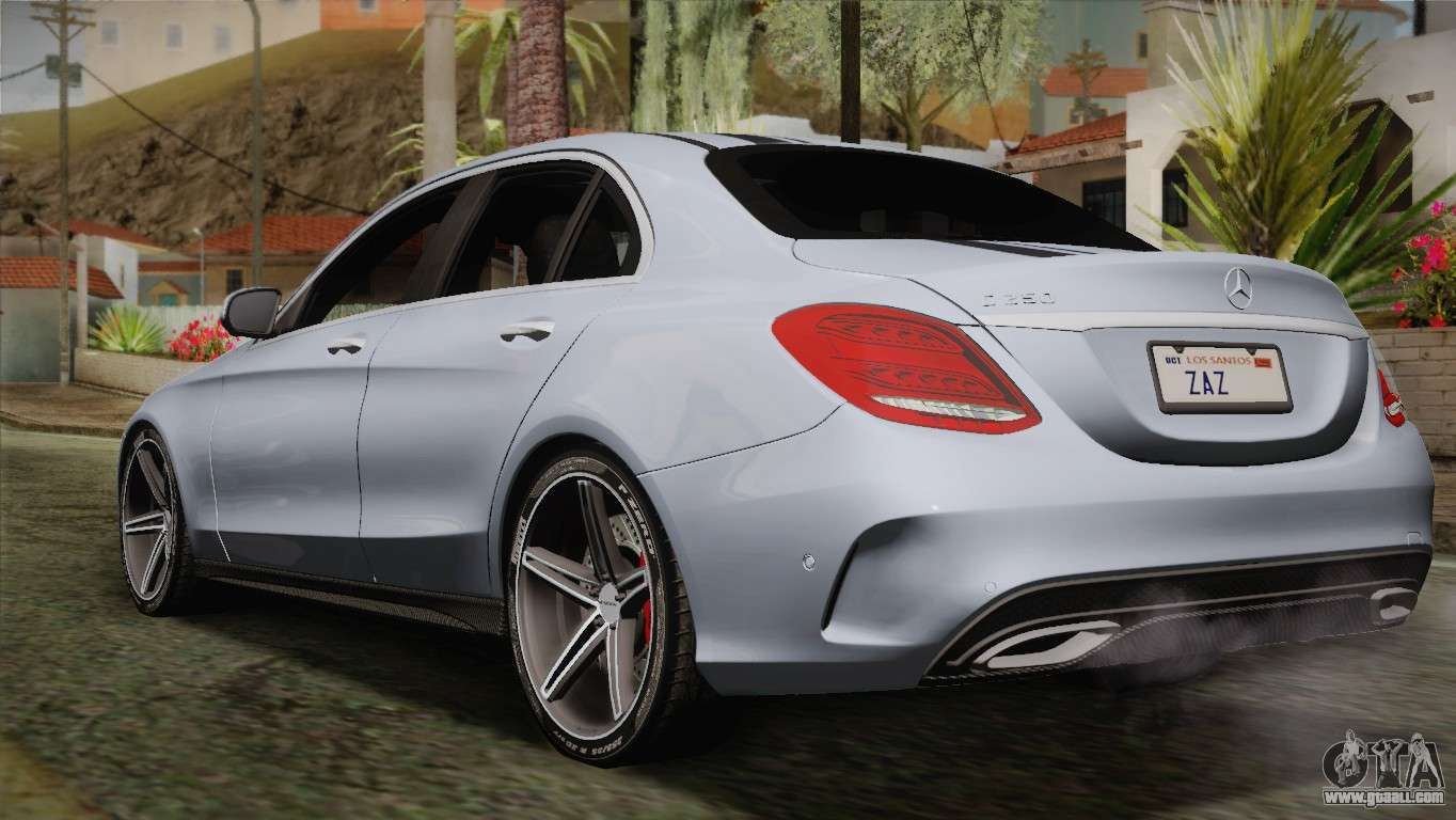 Mercedes benz c250 amg edition 2014 sa plate for gta san for Mercedes benz plate