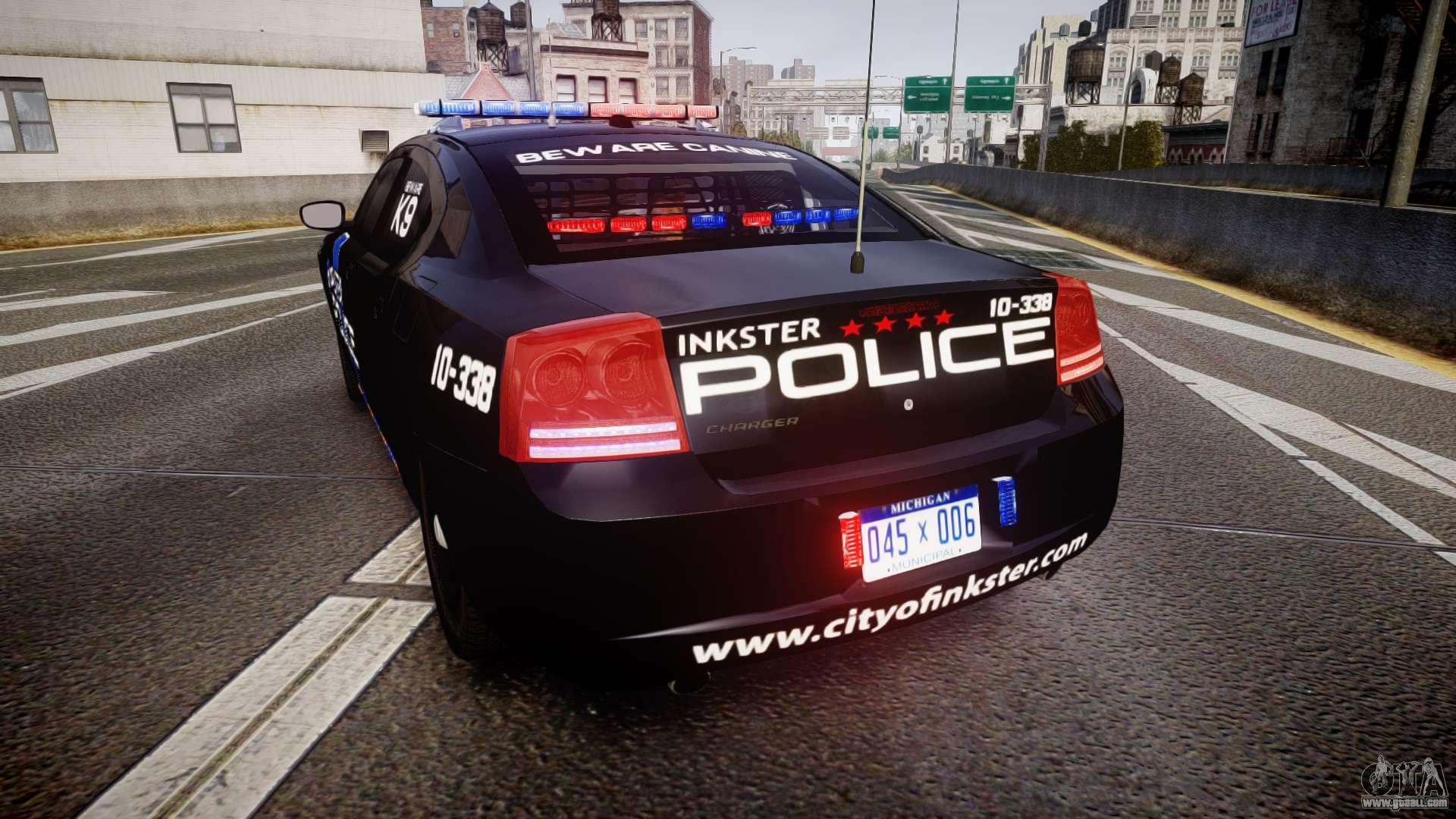 Dodge Charger 2010 Police K9 [ELS] for GTA 4