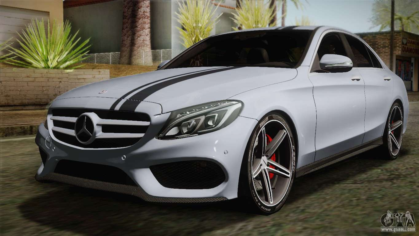 mercedes benz c250 amg edition 2014 sa plate for gta san andreas. Black Bedroom Furniture Sets. Home Design Ideas