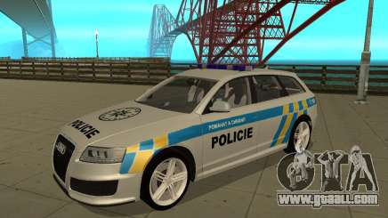 Audi RS6 Combi Police Czech Republic for GTA San Andreas