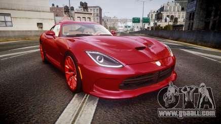 Dodge Viper SRT 2013 rims1 for GTA 4