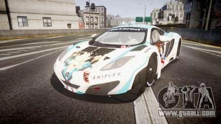 McLaren MP4-12C GT3 Haruhi Itasha for GTA 4