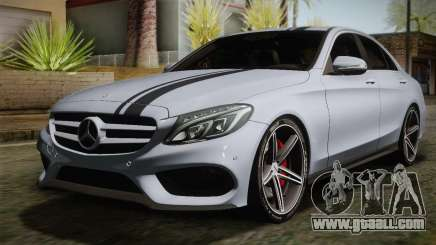 Mercedes-Benz C250 AMG Edition 2014 SA Plate for GTA San Andreas