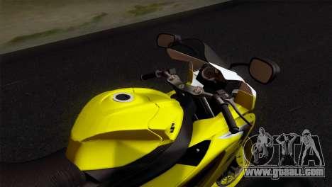 Suzuki GSX-R 2015 Yellow & White for GTA San Andreas right view