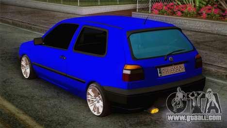 Volkswagen Golf 3 for GTA San Andreas left view