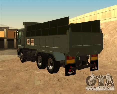 Mitsubishi Fuso Super Great Dump Truck for GTA San Andreas left view