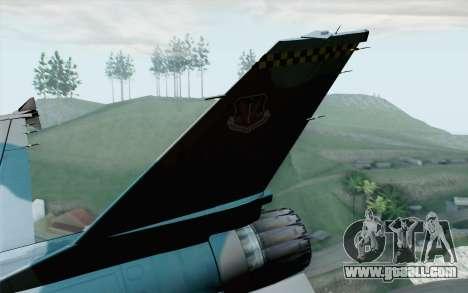 F-16C Fighting Falcon Aggressor BlueGrey for GTA San Andreas back left view
