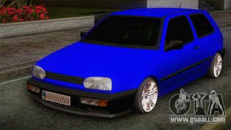 Volkswagen Golf 3 for GTA San Andreas