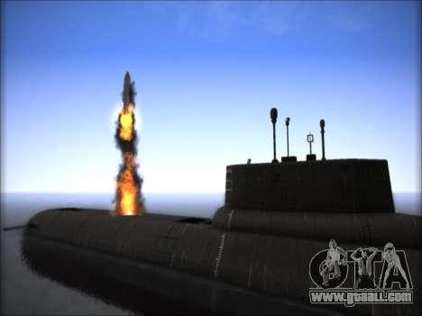 NPS project 941 Akula for GTA San Andreas third screenshot