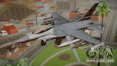 F-16 Fighting Falcon RNLAF Solo Display J-142 for GTA San Andreas