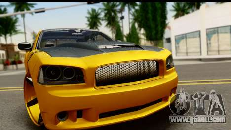 Dodge Charger SRT8 2006 Tuning for GTA San Andreas back left view